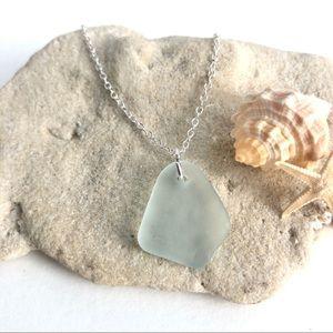 Sea Glass Necklace Handmade from Genuine Sea Glass